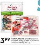 Compliments Crab-flavoured Seafood 454 g or Anchor's Bay Seafood Medley 360 g