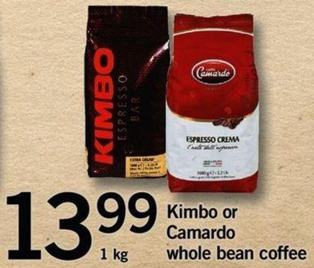 Kimbo Or Camardo Whole Bean Coffee  - 1 Kg