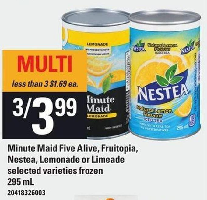 Minute Maid Five Alive - Fruitopia - Nestea - Lemonade Or Limeade