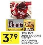 Hershey's Chipits 200-300 g or Betty Crocker Mug Cakes 266-294 g