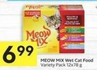 Meow Mix Wet Cat Food Variety Pack 12x78 g