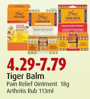 Tiger Balm Pain Relief Ointment 18g Arthritis Rub 113ml