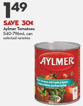 Aylmer Tomatoes  540-796ml Can
