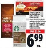 Starbucks Bean Or Van Houtte Ground Coffee Or Folgers K-cup Coffee Capsules