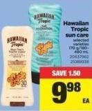 Hawaiian Tropic Sun Care - 170 G/180- 480 mL