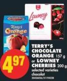 Terry's Chocolate Orange - 157 g or Lowney Cherries - 200 g