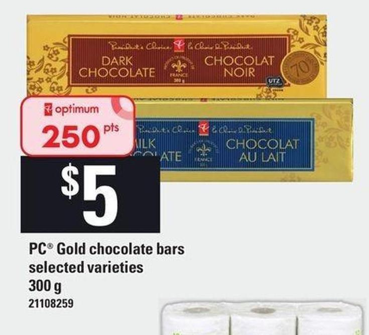 PC Gold Chocolate Bars - 300 G