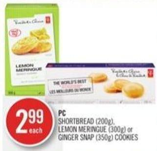 PC Shortbread (200g) - Lemon Meringue (300g) or Ginger Snap (350g) Cookies