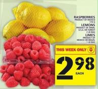 Raspberries Or Lemons Or Limes