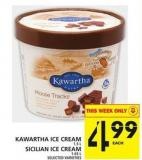 Kawartha Ice Cream Or Sicilian Ice Cream