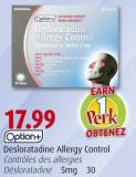 Option+ Desloratadine Allergy Control