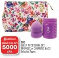 Quo Sleep Accessory Set - Sponges or Cosmetic Bags