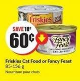 Friskies Cat Food or Fancy Feast 85-156 g