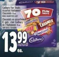 Cadbury Fun Treats Assorted Halloween Chocolate 70 Un.