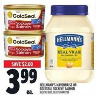 Hellmann's Mayonnaise Or Goldseal Sockeye Salmon