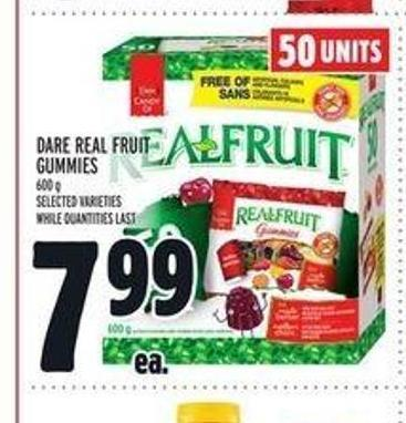 Dare Real Fruit Gummies