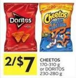 Cheetos 170-310 g or Doritos 230-280 g