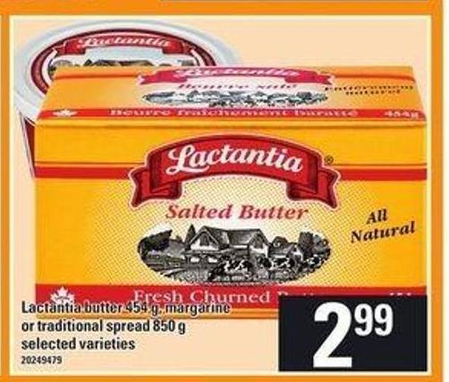 Lactantia Butter - 454 G - Margarine Or Traditional Spread - 850 G