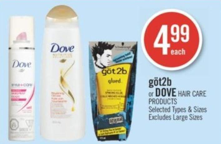Göt2b or Dove Hair Care Products