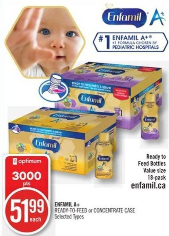 Enfamil A+  Ready-to-feed or Concentrate Case