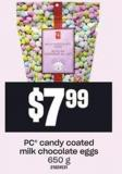 PC Candy Coated Milk Chocolate Eggs - 650 G