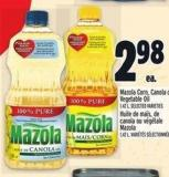 Mazola Corn - Canola Or Vegetable Oil