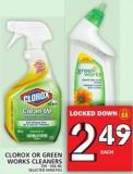 Clorox Or Green Works Cleaners