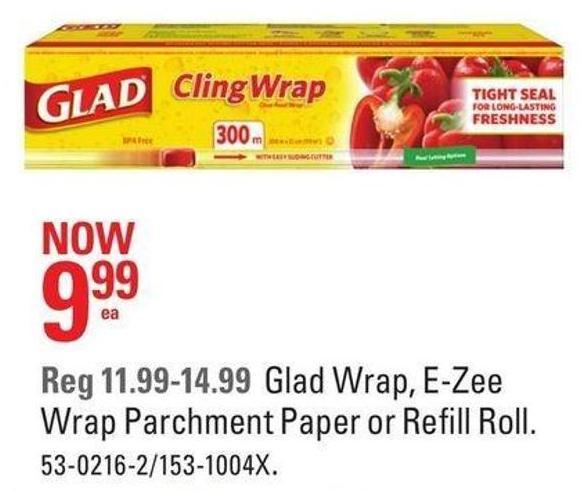 Glad Wrap - E-zee Wrap Parchment Paper or Refill Roll