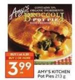Amy's Kitchen Pot Pies 213 g