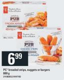 PC Breaded Strips - Nuggets Or Burgers - 800 g