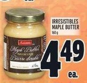Irresistibles Maple Butter