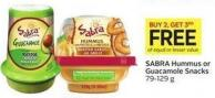 Sabra Hummus or Guacamole Snacks 79-129 g