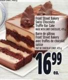 Front Street Bakery Swiss Chocolate Truffle Bar Cake