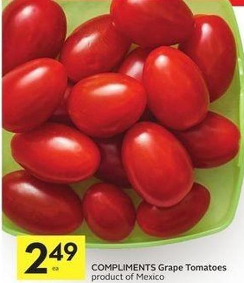 Compliments Grape Tomatoes Product of Mexico