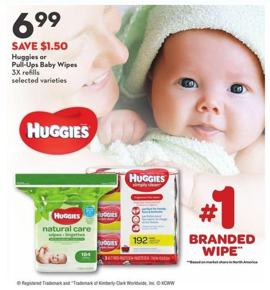 Huggies or Pull-Ups Baby Wipes