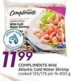 Compliments Wild Atlantic Cold Water Shrimp
