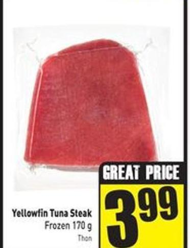 Yellowfin Tuna Steak Frozen 170 g