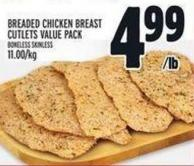 Breaded Chicken Breast Cutlets Value Pack