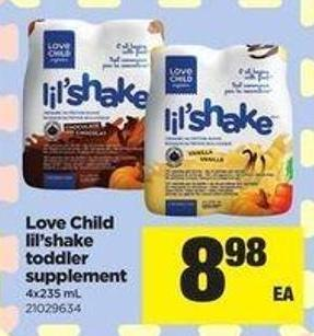 Love Child Lil'shake Toddler Supplement - 4x235 Ml