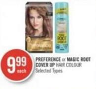 Preference or Magic Root Cover Up Hair Colour