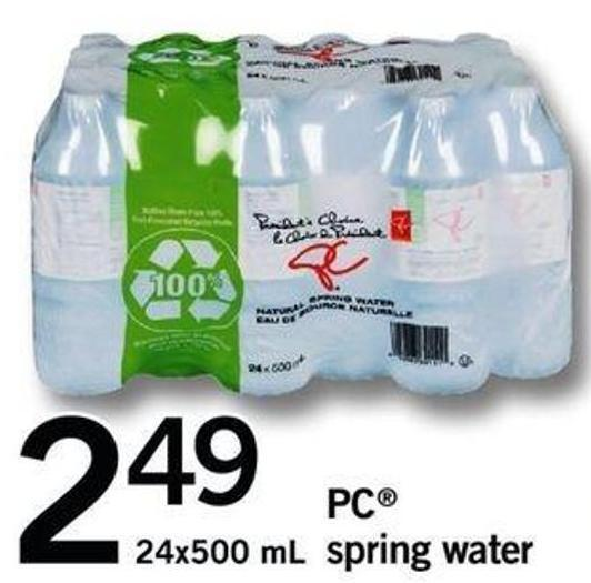 PC Spring Water - 24x500 mL