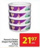 Parent's Choice Diaper Pail Refills 4-pack