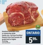 Ontario Corn Fed Canada Aa Grade Beef Or Higher