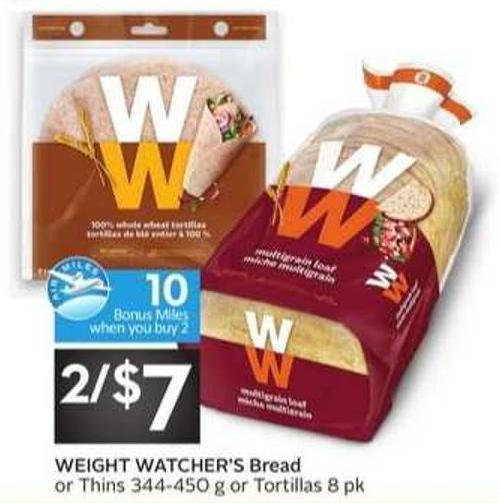 Weight Watcher's Bread - 10 Air Miles