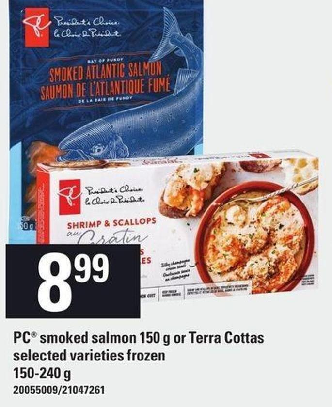 PC Smoked Salmon 150 g Or Terra Cottas - 150-240 g