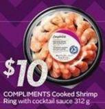 Compliments Cooked Shrimp Ring
