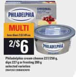 Philadelphia Cream Cheese - 227/250 g - Dips 227 g Or Frosting 280 g
