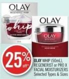 Olay Whip (50ml) - Regenerist or Pro X Facial Moisturizers