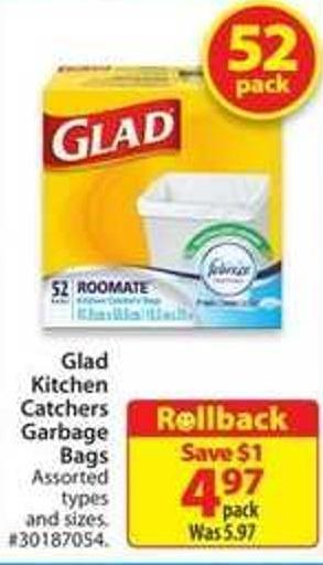 Glad Kitchen Catchers Garbage Bags