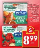 Maple Leaf Prime Raised Without Antibiotics Breaded Chicken Strips - Nuggets Or Wings